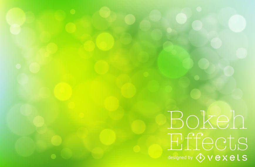 Tones of green bokeh background
