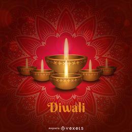 Fondo de pantalla de velas de Diwali