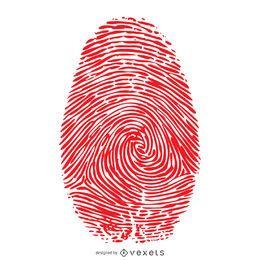 Rote Fingerabdruckillustration