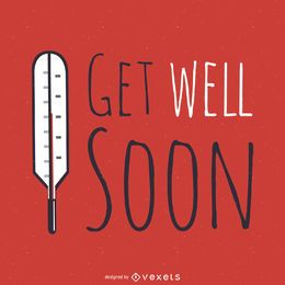Hand drawn get well soon card