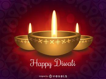 Diseño feliz de Diwali