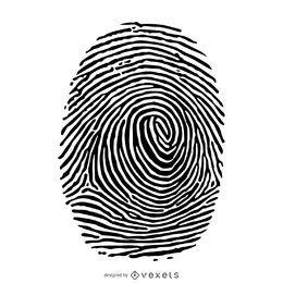 Ilustração da silhueta da impressão digital