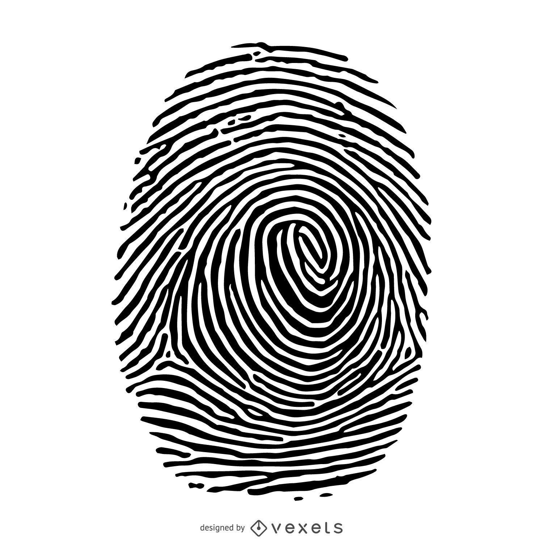 Fingerprint silhouette illustration