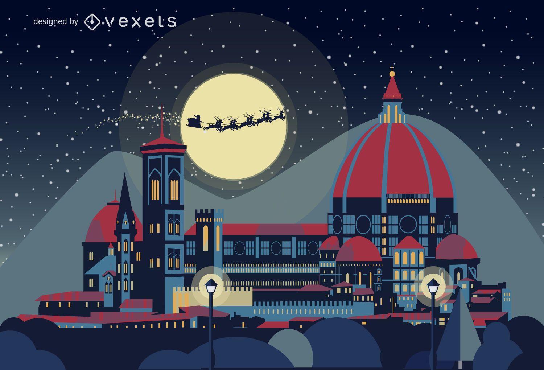 Florence Christmas skyline