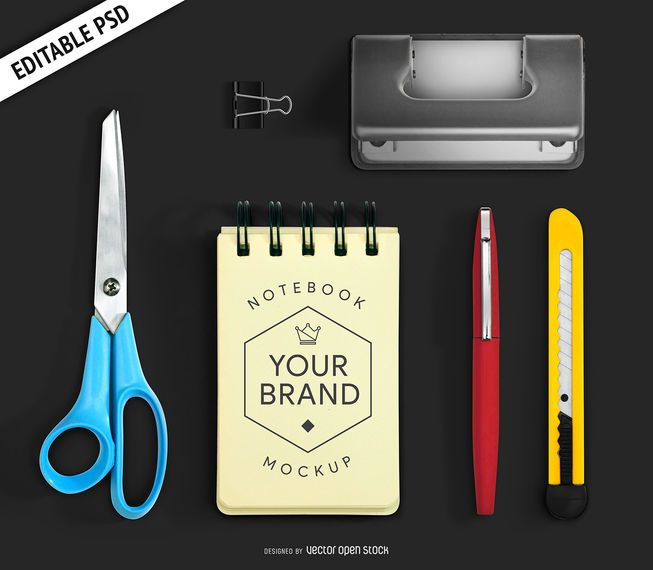 Office stationery mockup PSD