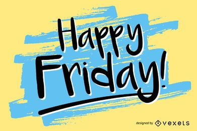 Handwritten Happy Friday design
