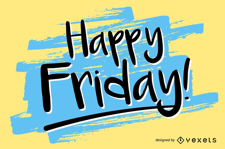Diseño manuscrito de Happy Friday