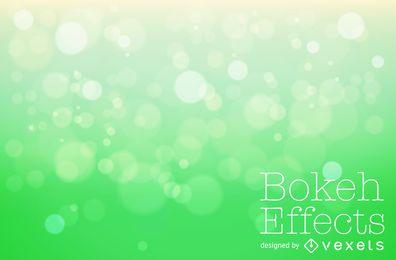 Gradient green bokeh background