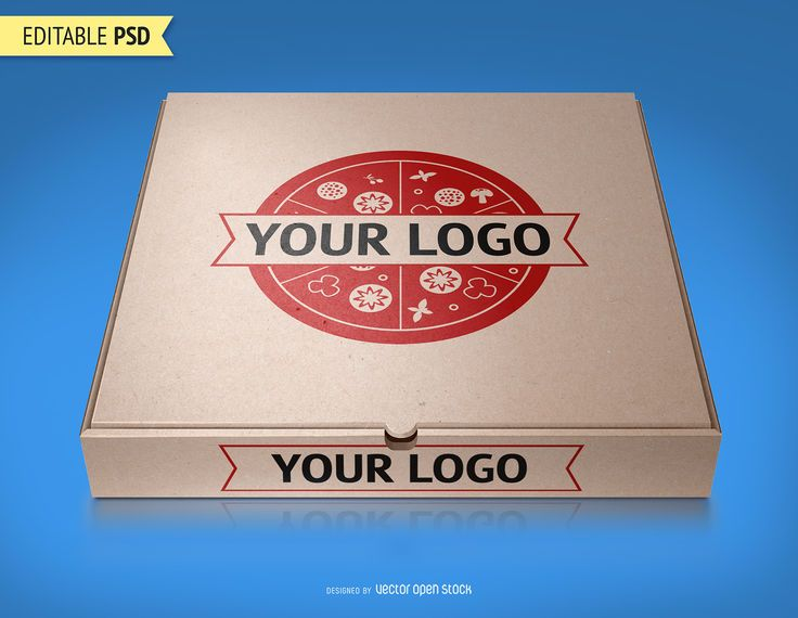 Pizza packaging mockup PSD
