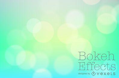Bokeh verde telón de fondo azul de la pendiente