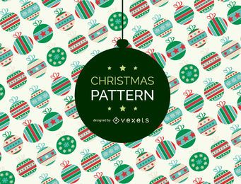 Christmas ornament pattern backdrop