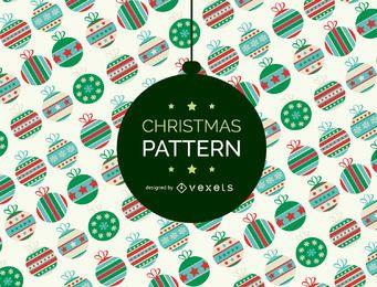 Telón de fondo patrón de adorno de Navidad