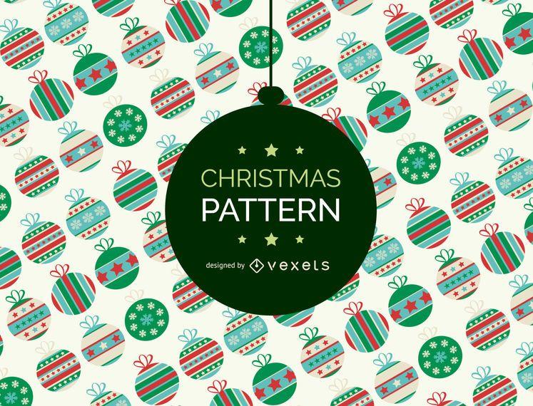 Cenário de padrão de enfeite de Natal