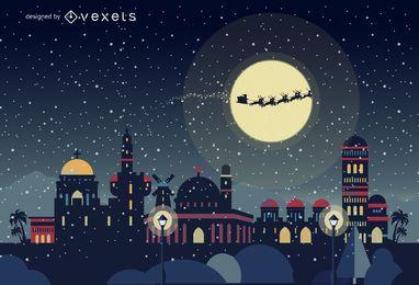 Horizonte de navidad de Jerusalén