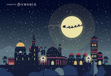 Jerusalen Christmas skyline