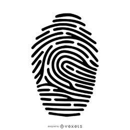 Fingerabdruckschattenbild-Anschlagillustration