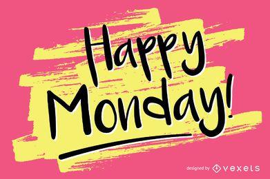 Handschriftlicher Happy Monday-Entwurf