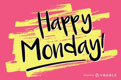 Handwritten Happy Monday design