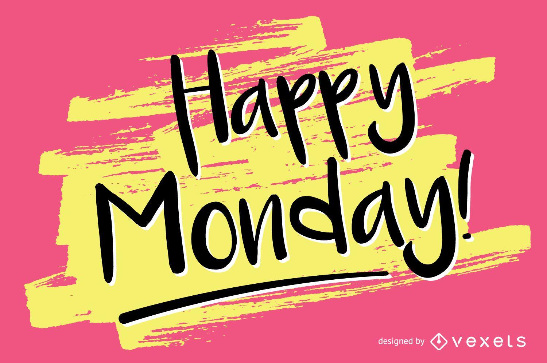 Design manuscrito de feliz segunda-feira