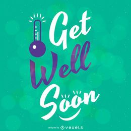 Get well soon bokeh design