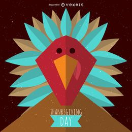 Diseño de pavo de acción de gracias