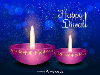 Bunter Diwali-Entwurf