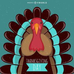 Acción de Gracias ilustración de pavo