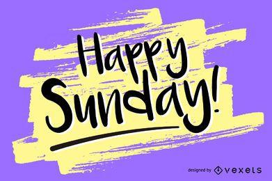 Handschriftlicher glücklicher Sonntagsentwurf