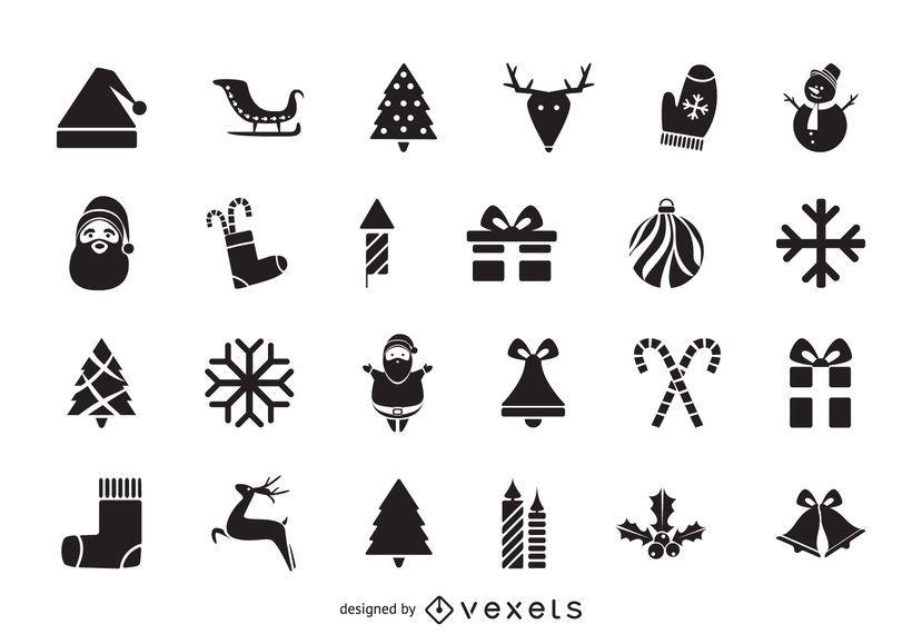 Pacote de ícones de Natal plana