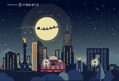 México horizonte de Navidad