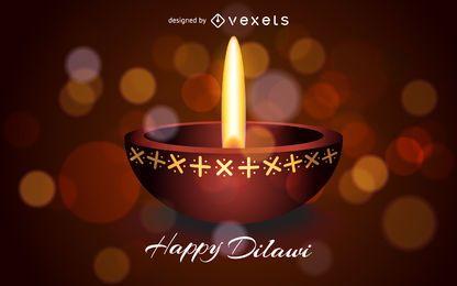 Diseño diwali en tonos cálidos.