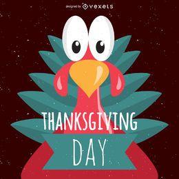 cartel de pavo de Acción de Gracias