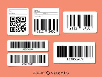 Conjunto de QR y código de barras