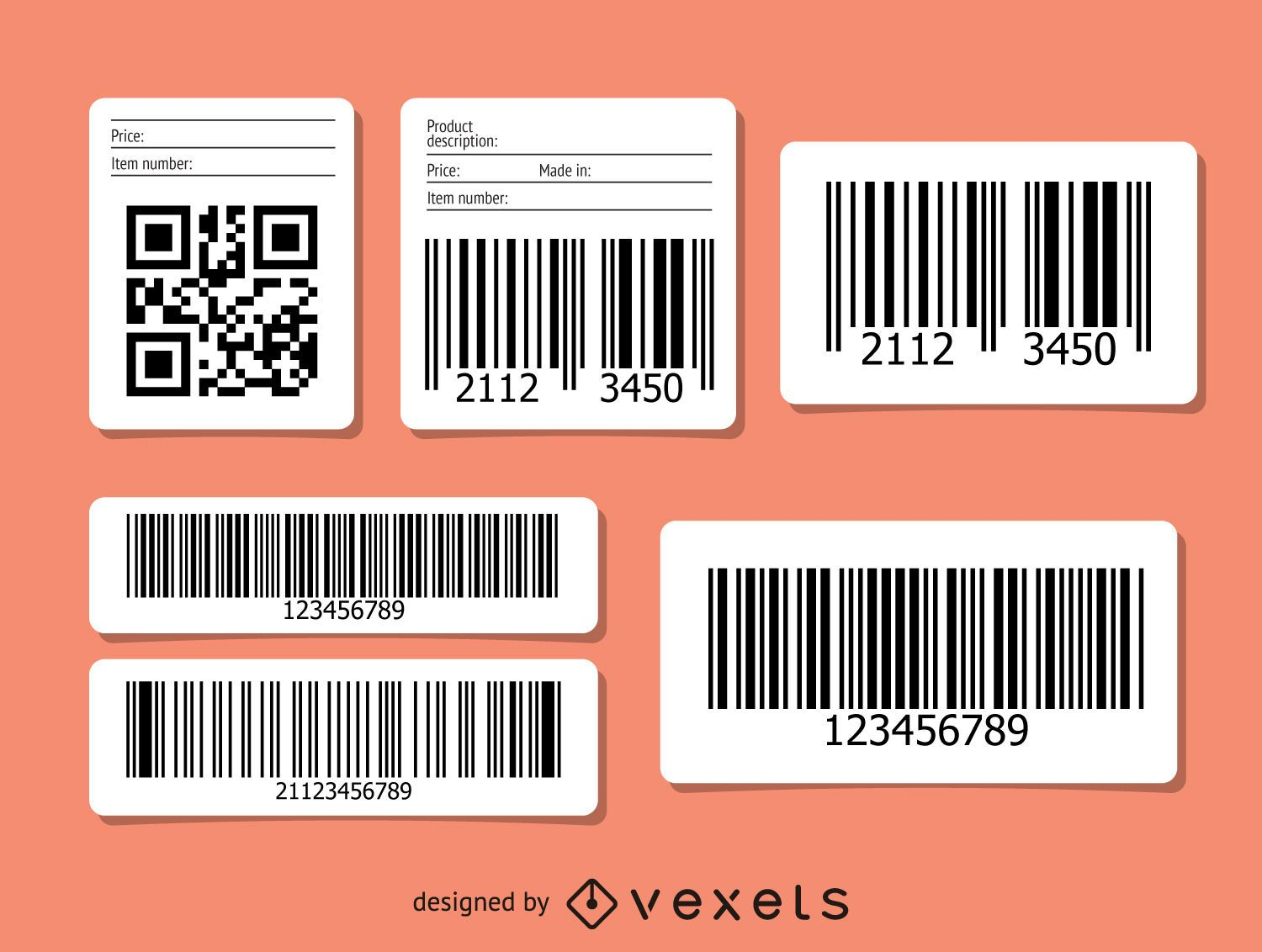 QR and barcode set