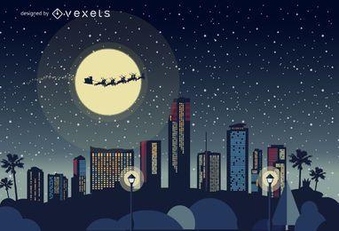 Miami Weihnachtsskyline