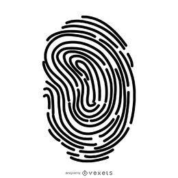 Einfache Fingerabdruckillustration