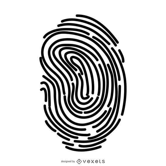 Ilustração de impressão digital simples