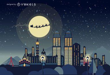 Skyline de Natal de Mumbai