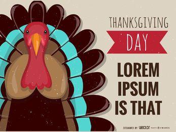 diseño de la tarjeta del cartel de Acción de Gracias