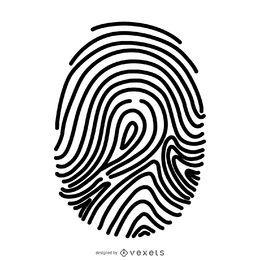 Grundlegende Fingerabdruckillustration