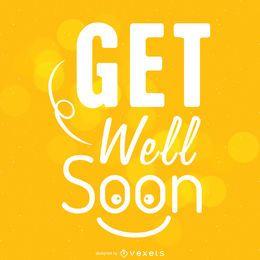 Happy get well soon design