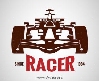 Cartel de carreras de coches
