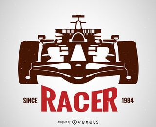 Racing Car Silhouette Poster