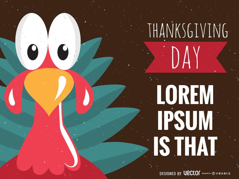 Diseño de Acción de Gracias de Turquía