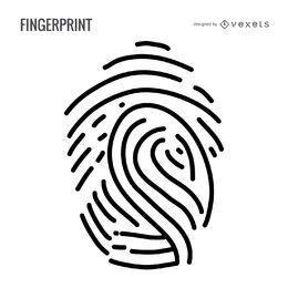 Minimalistische Fingerabdruckillustration