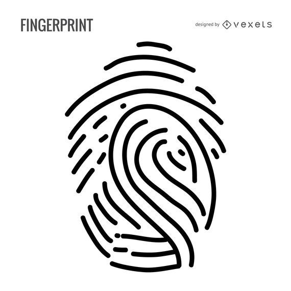 Minimalist fingerprint illustration