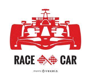 Diseño de cartel de carreras de coches.