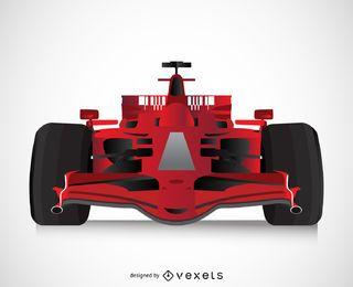 carro de corrida 3D isolada