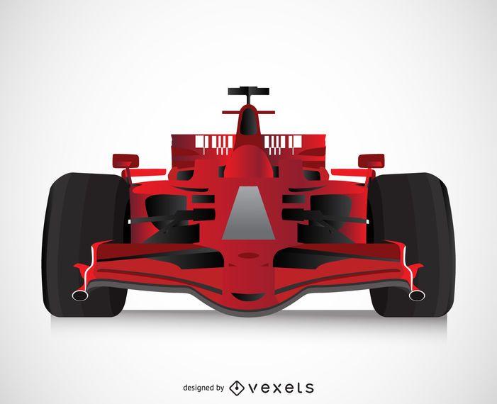 Isolated 3D race car