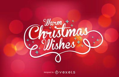 Desejos de Natal sobre bokeh